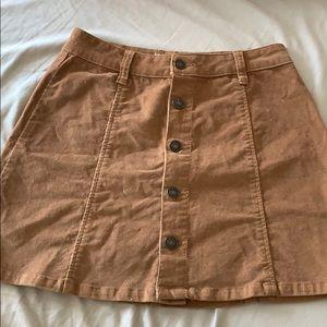 corduroy Button-down Skirt